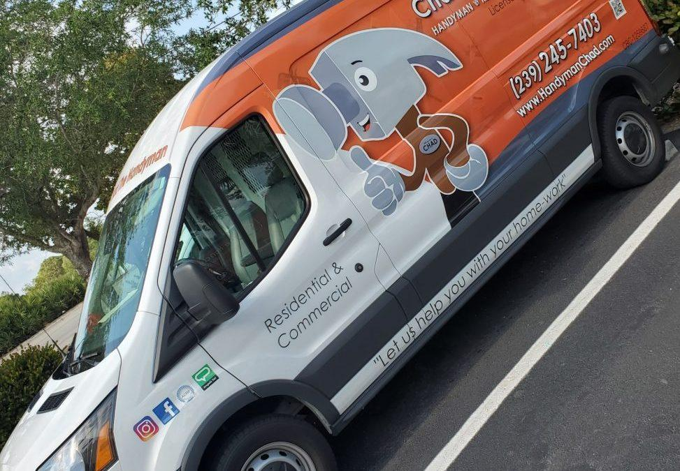 Chad The Handyman Got New Service Vans Wrapped And Detailed.