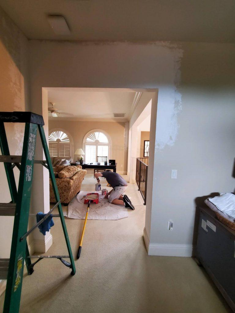 Dry Wall Repair In Estero Florida - Updating Home Walkways Into Arches.